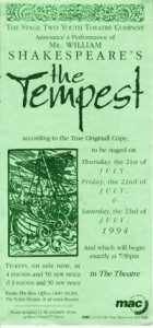 89. The Tempest 21st - 23rd July 1994